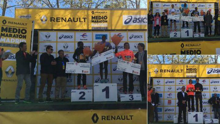 Kibet, con nuevo récord, y Loyce se imponen en el Medio Maratón de Madrid