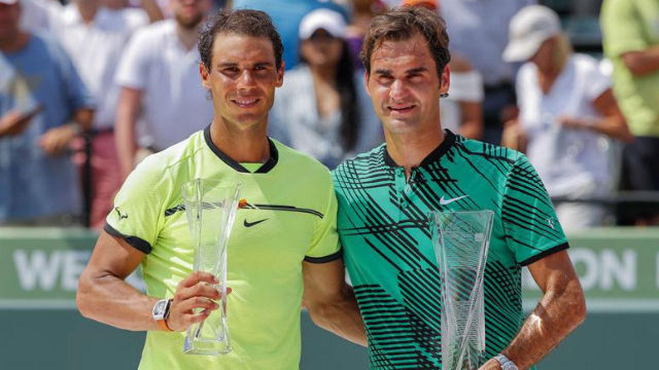 Nadal pierde ante Federer la final de Miami