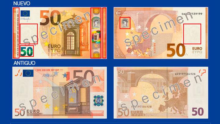 Así es el nuevo billete de 50 €