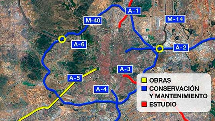 Fomento extenderá el tercer carril de la A-5 a Parque Coimbra