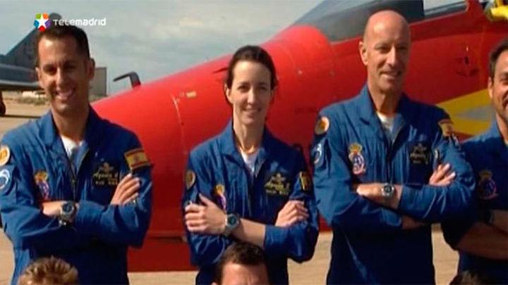 Rosa, la primera mujer en incorporarse a la Patrulla Aguila del Ejército del Aire