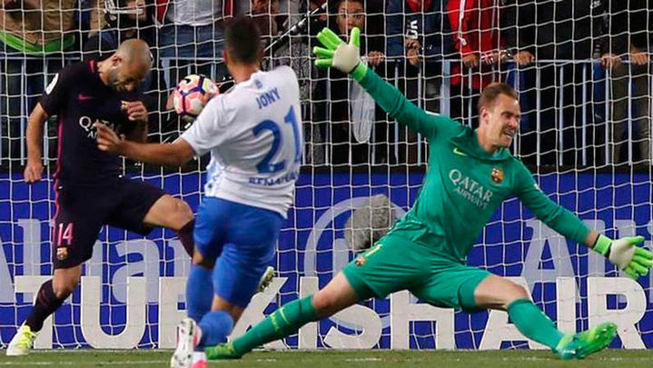 2-0. El Barcelona cae ante el Málaga y desprecia el liderato