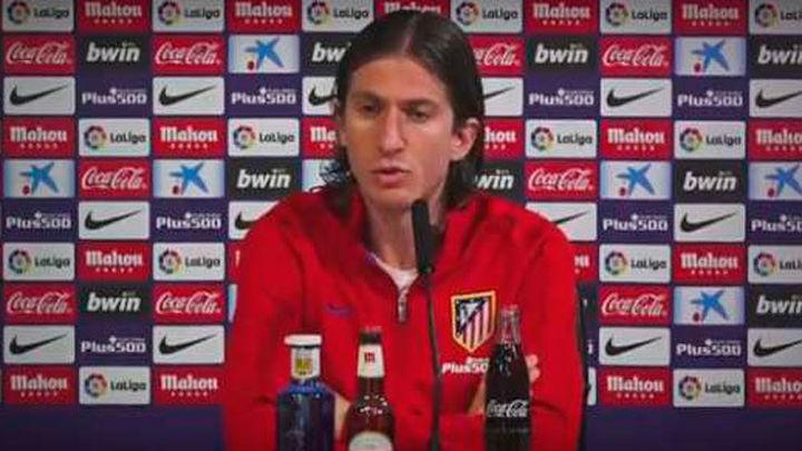 """Filipe Luis: """"El objetivo es la final; hay muchísima ilusión, confianza y creemos"""""""