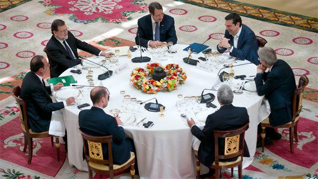 Los siete líderes de los países del sur de la UE