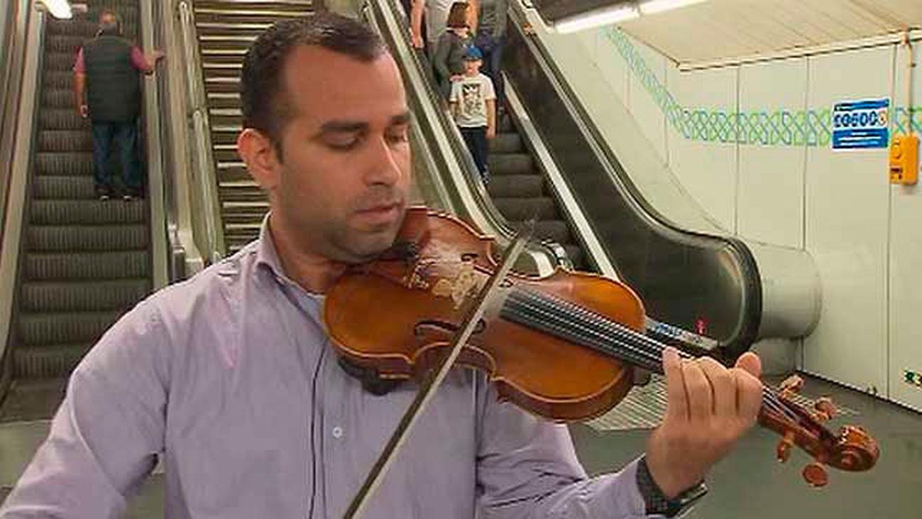 El violinista de Gran Vía
