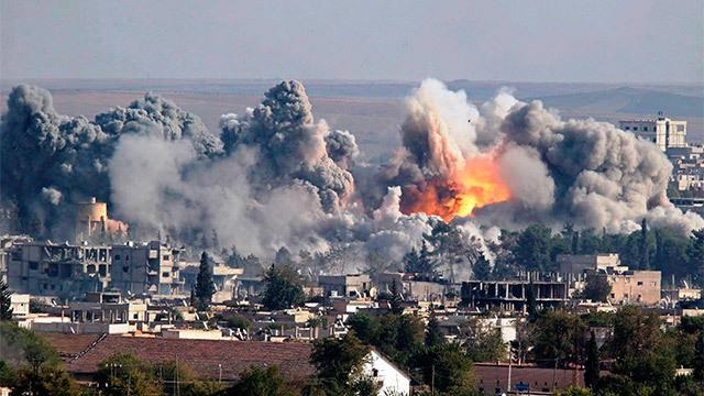 Imagen de archivo de uno de los bombardeos en Siria