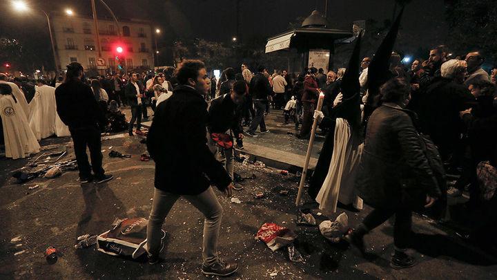 Ocho detenidos por desorden público  por los incidentes en la Madrugá de Sevilla