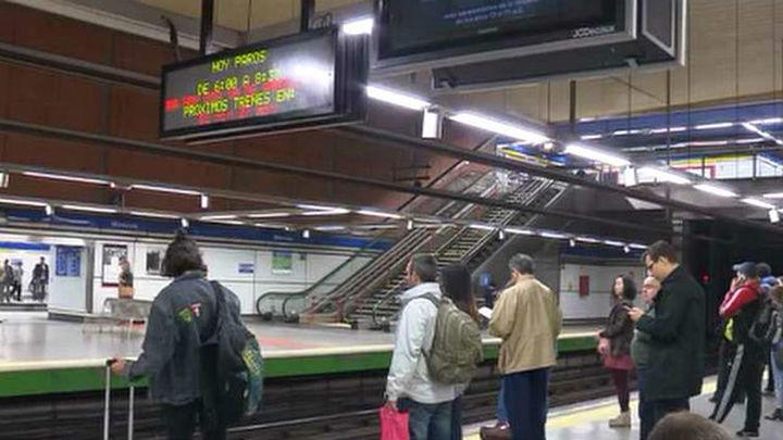 La nueva jornada de huelga en Metro termina con un 78% de trenes circulando, según la compañía