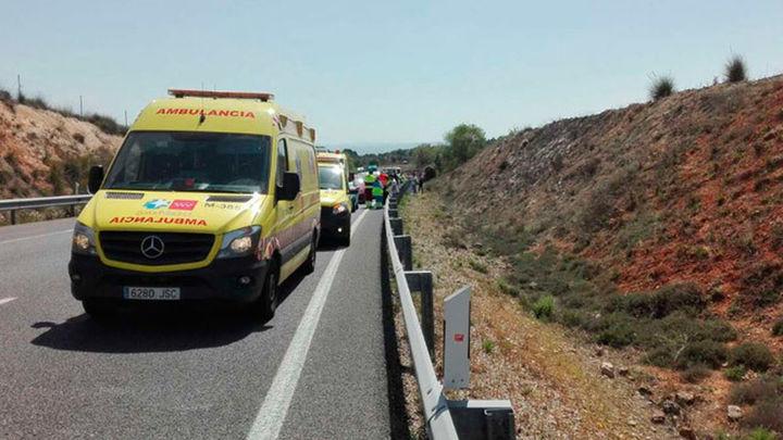 Un alcance entre siete vehículos en la A3 a la altura de Villarejo provoca ocho heridos leves