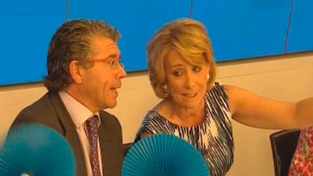 Esperanza Aguirre con Francisco Granados