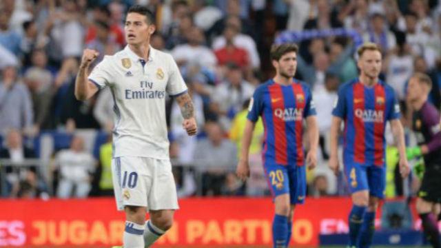 James Rodríguez ante el Barcelona