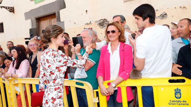 La Reina Letizia en Canarias