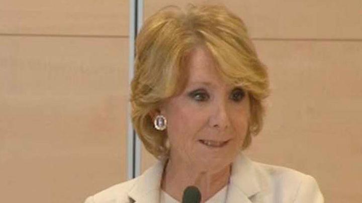 Esperanza Aguirre dimite como portavoz y concejala en Madrid