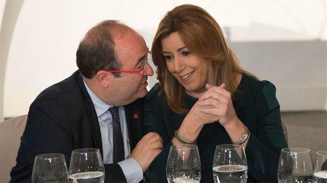 Miquel Iceta con Susana Díaz