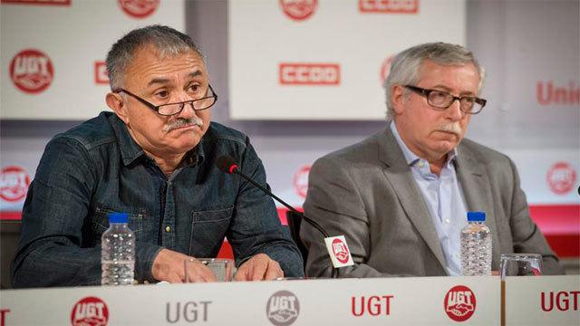 Los secretarios generales de UGT y CCOO, Pepe Álvarez e Ignacio Fernández Toxo
