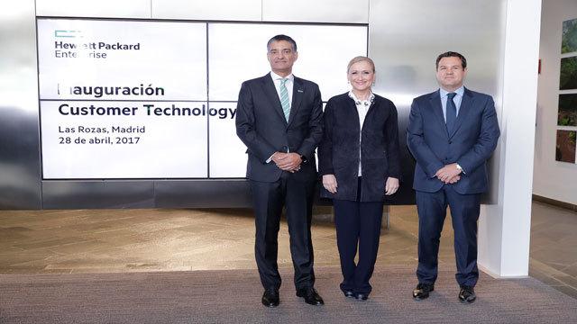 Cifuentes en el Customer Technology Center que Hewlett Packard