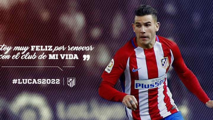 Lucas Hernández, rojiblanco hasta 2022