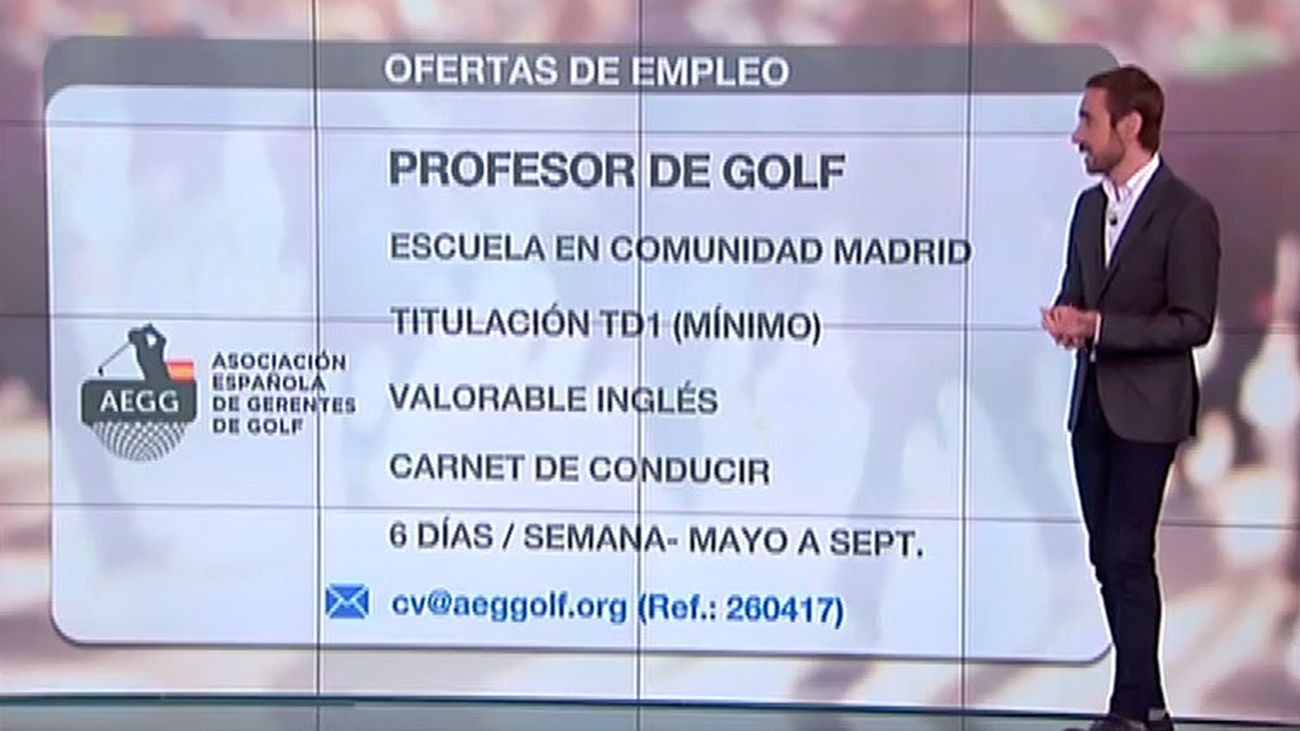 Trabaja como profesor de golf en Madrid