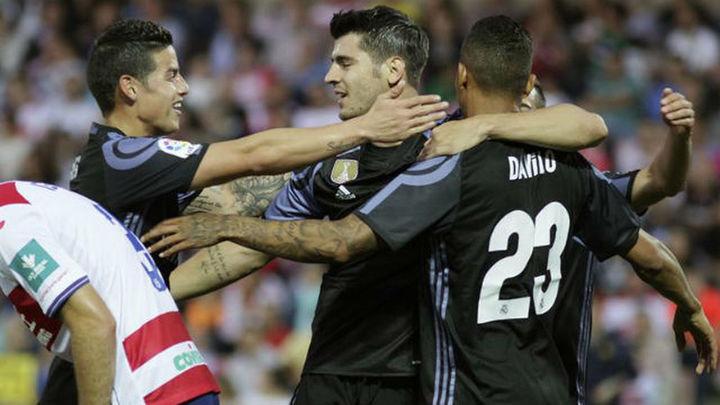 0-4. James y Morata resuelven el trámite de Granada