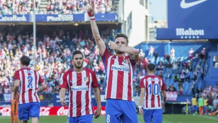 1-0. Un gol de Saúl da la victoria al Atlético y le afianza como tercero