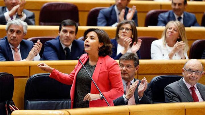 "Santamaría pide a la Generalitat ""parar de una vez la dinámica""  del referéndum"