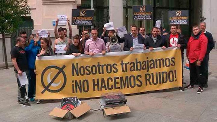Empresarios del ocio protestan por las normativas contra el ruido en Cibeles