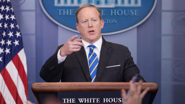Sean Spicer, Secretario de prensa de la Casa Blanca