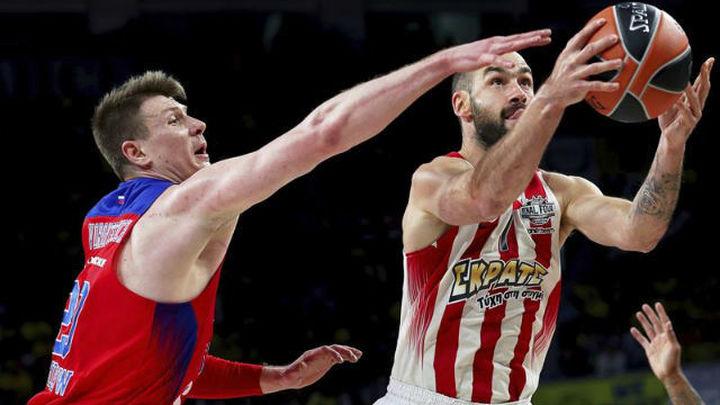 78-82. Olympiacos remonta a CSKA para alcanzar la final