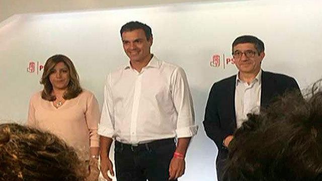 Los tres contendientes por la Secretaria General del PSOE