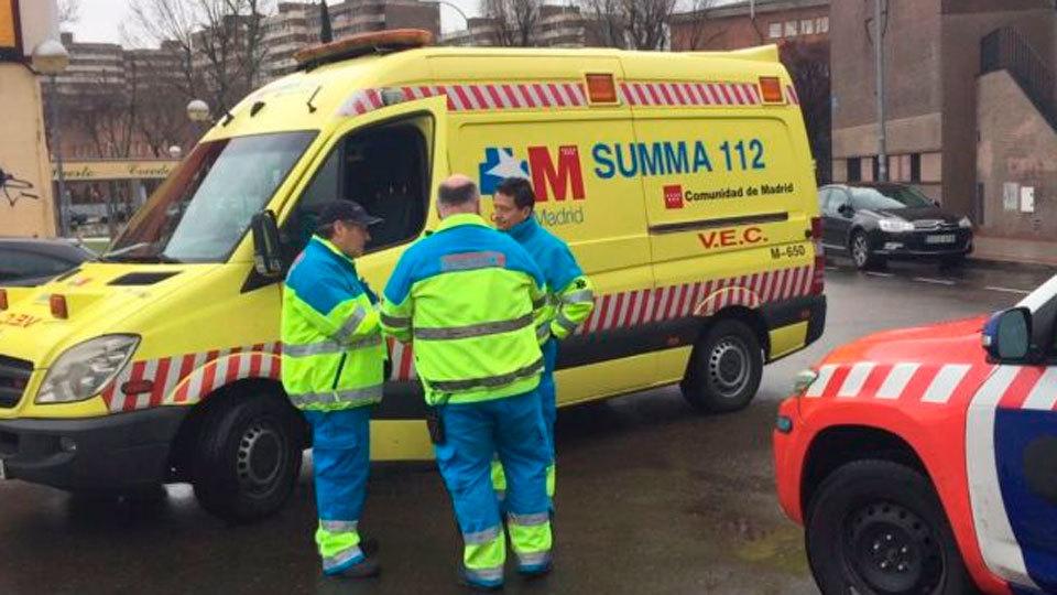 Ambulancia del Summa de la Comunidad de Madrid