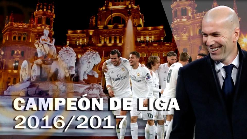 Especial celebración del título de Liga del Real Madrid