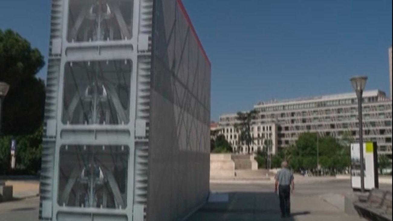 Se expone en Madrid una compuerta del Canal de Panamá