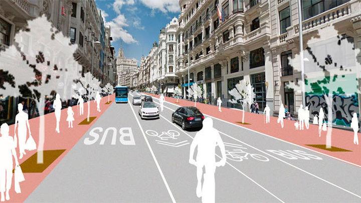 Las obras de peatonalización de la Gran Vía empezarán en enero