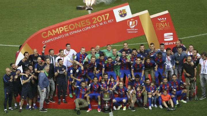 Barça, Arsenal, Borussia y PSG, campeones de Copa