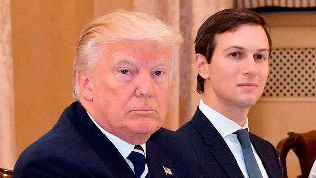 El presidente estadounidense Donald J. Trump junto a su yerno y asesor Jared Kushner