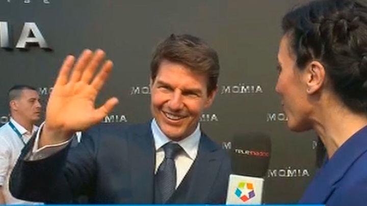 Tom Cruise asiste al estreno en Madrid de su última película 'La Momia'