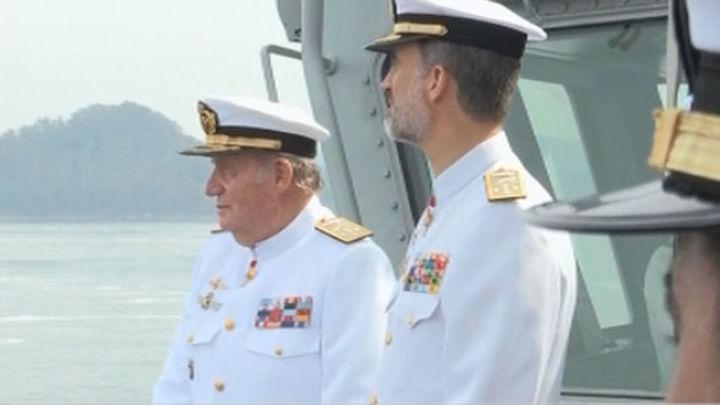 Felipe VI y Don Juan Carlos celebran juntos el tercer aniversario de la abdicación