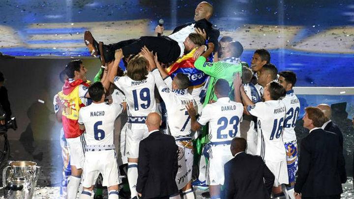 El Bernabéu vibró con la fiesta de los campeones de Europa