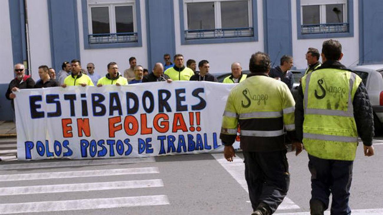 Seguimiento total en la huelga de estibadores, según los convocantes