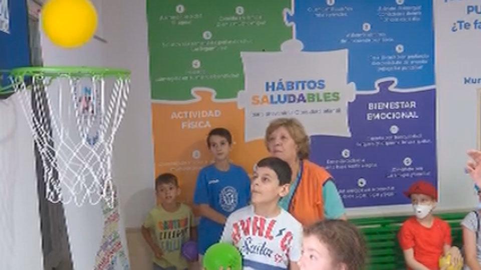 El Niño Jesús abre una sala de la fundación Gasol contra la obesidad infantil