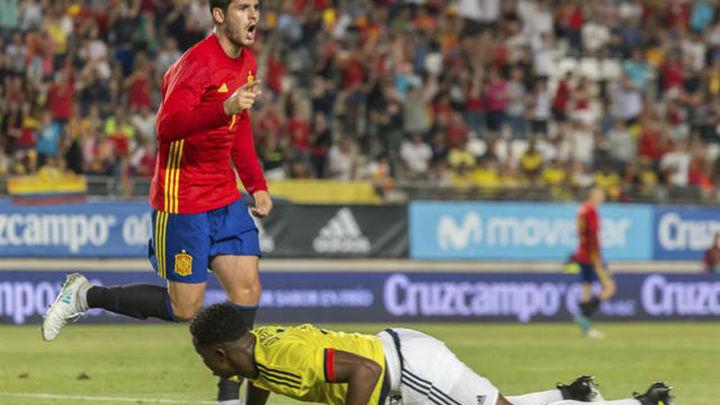 2-2. Morata impide ante Colombia la primera derrota de la 'era Lopetegui'