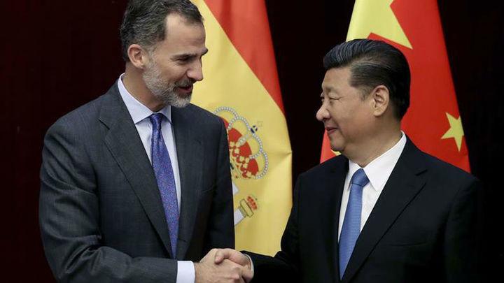 El rey Felipe VI y el presidente chino abogan por aumentar el nivel de la relación