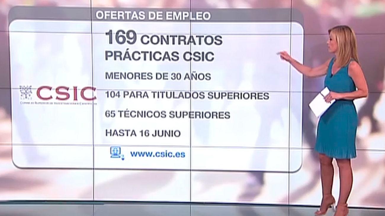 El CSIC ofrece 169 contratos en prácticas