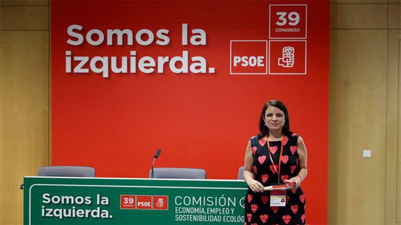 Adriana Lastra visita las instalaciones del 39º Congreso del PSOE