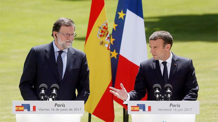 """Macron: """"Mi socio y amigo es España en su conjunto y mi interlocutor se llama Rajoy"""""""