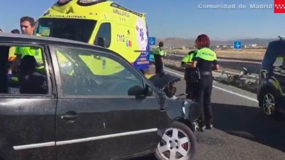 Muere una mujer de 56 años al impactar contra el guardarraíl de la mediana en Villanueva de la Cañada