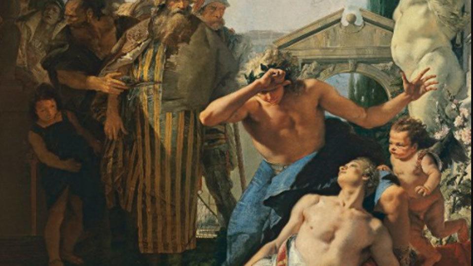 El Thyssen expone el cuadro 'La muerte de Jacinto' de Tiepolo