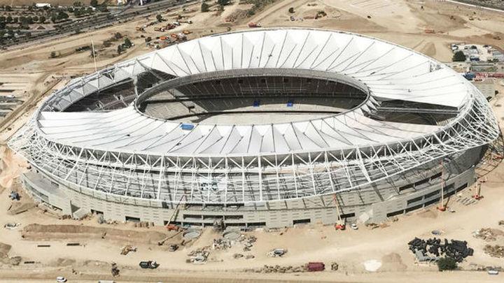 Los avances en el Wanda Metropolitano, desde el aire