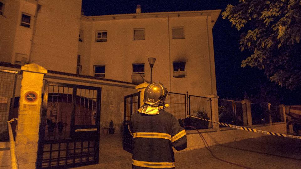 Mueren dos ancianos en el incendio de su residencia en Olvera