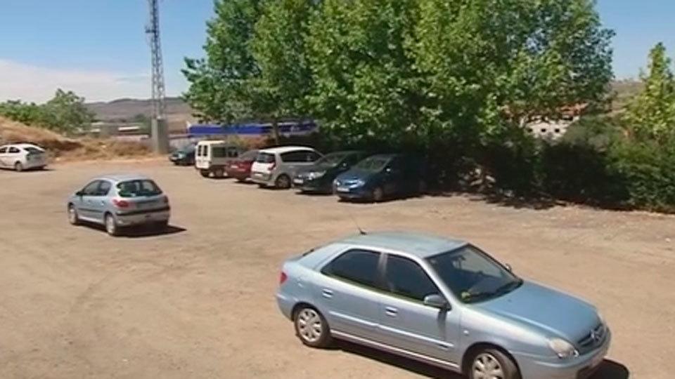 Parking en Mejorada donde fue abandonada la menor